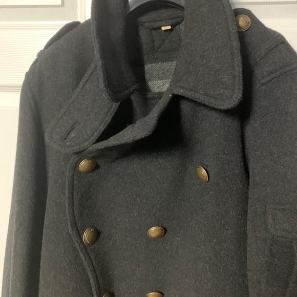 Burberry wool blend beautiful Peacoat coat
